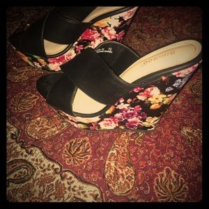 Bamboo Floral Wedge